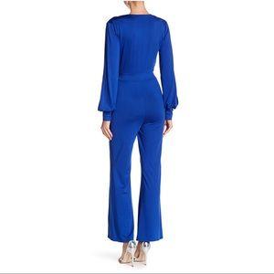 Favlux Pants & Jumpsuits - Favlux Cobalt Blue Split Sleeve Flare Jumpsuit